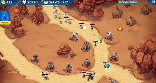 Screenshots of the Star wars: Galactic defense for Android tablet, phone.