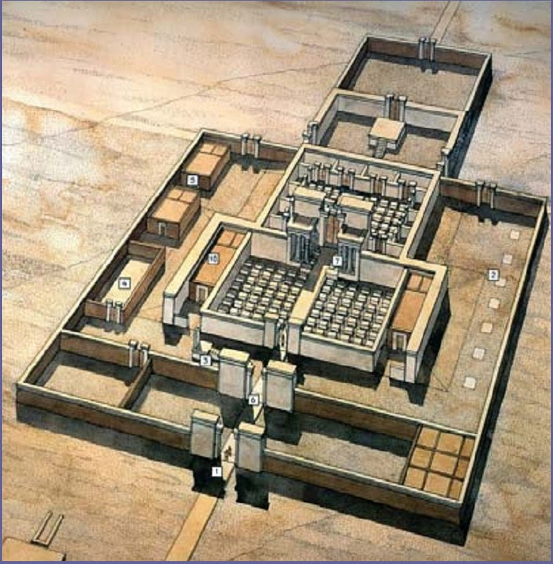 Visualization  of  an  Atenist  temple