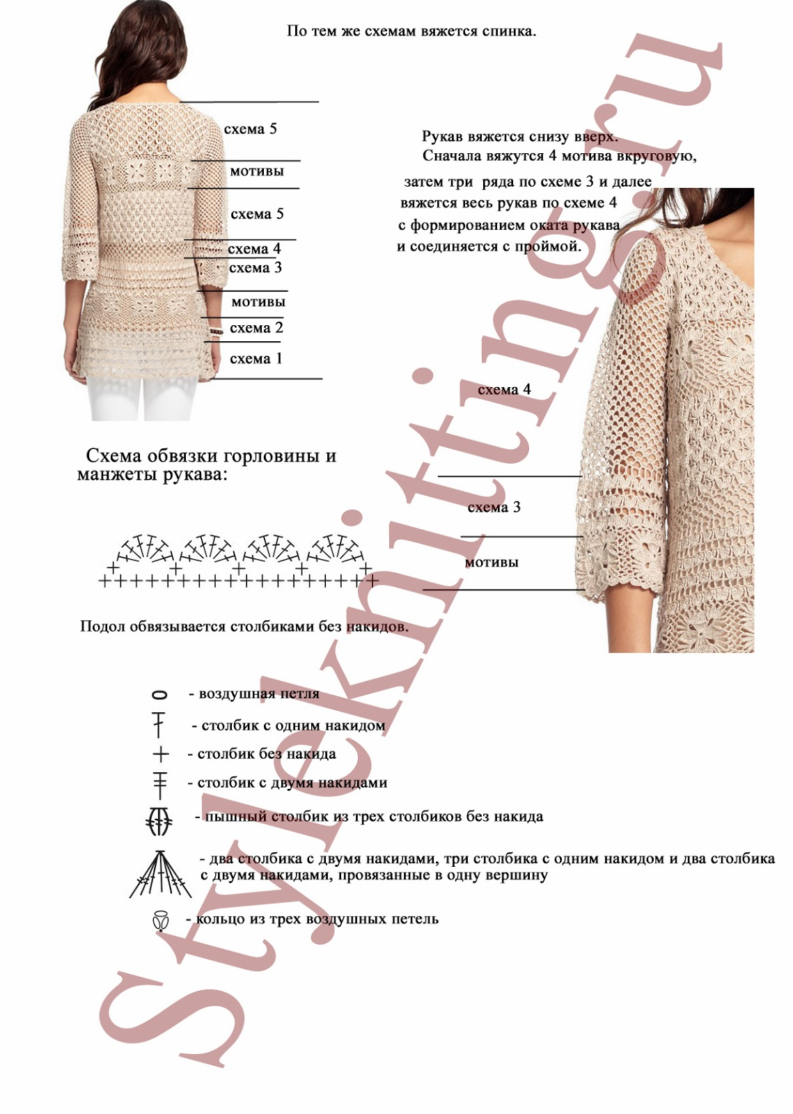 Crochet Patterns to Try: Crochet Charts for Calypso Tunic - Something ...