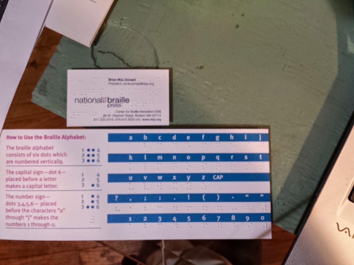 l'Alphabet Braille de National Braille Press