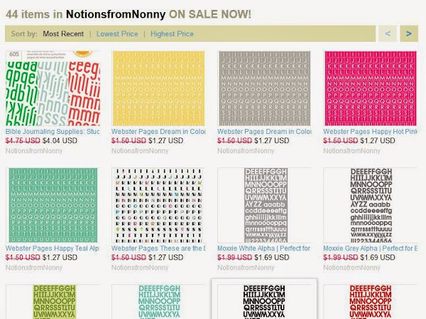 SALE @ Notions from Nonny Etsy Shop