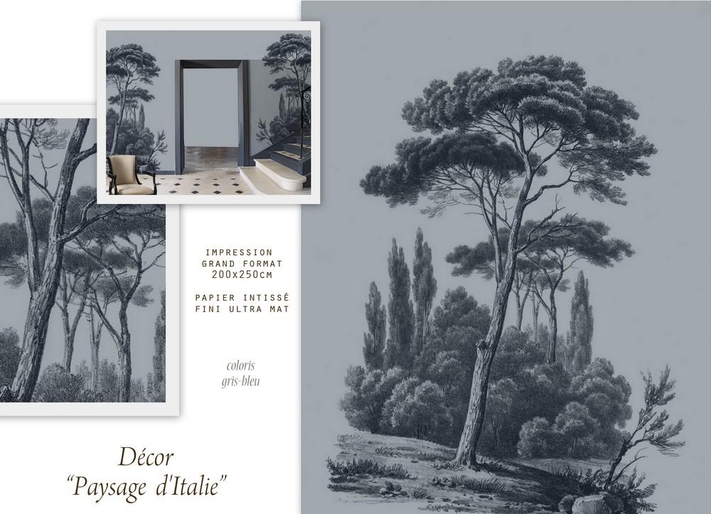 Paysage D Italie Papier Peint Panoramique Imprime Ananbo