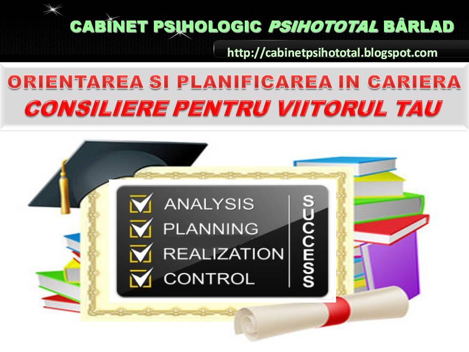 CE VREAU, CE STIU, CE POT - orientare  si/sau  consiliere vocationala