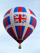 This balloon is powered by hot air generated by debate (union jack balloon)