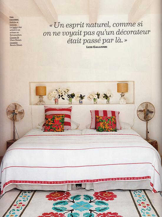 Ethnic inspired bedroom