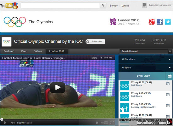 Youtube - Official Olympic Channel