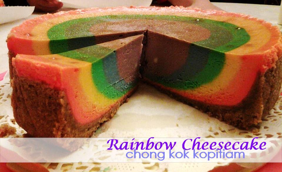CHONG KOK KOPITIAM: 【Special】Rainbow Cheesecake