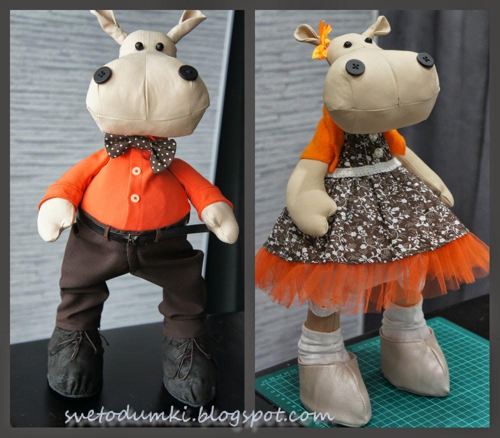 текстильные интерьерные игрушки оранжевый