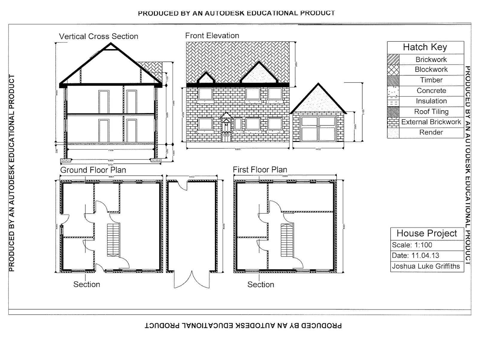 109 927 8327 may 2013 Autocad house drawings