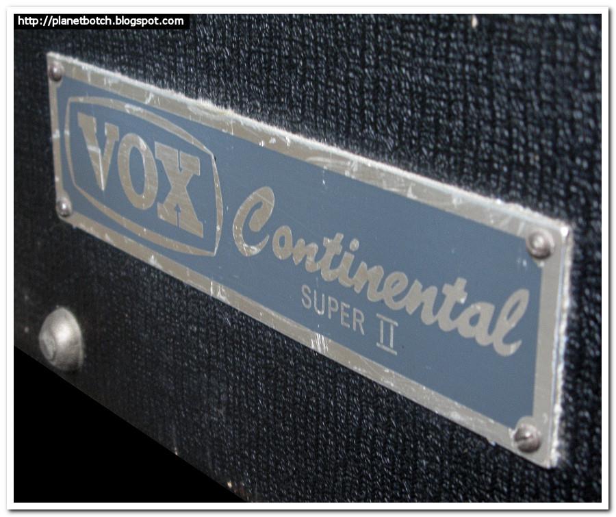 Vox Continental Super II ID plate