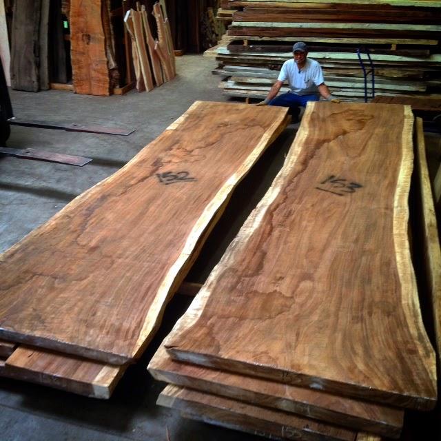 Tropical Exotic Hardwoods 15 16 39 Long Parota Live Edge Slabs
