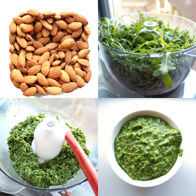 Oppskrift Ruccola Dressing Pesto