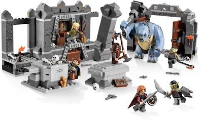 Zestaw klocków Lego Władca Pierścieni Kopalnie Morii Drużyna Pierścienia Troll