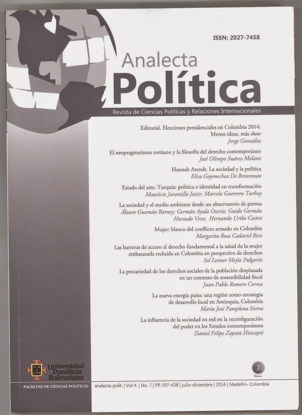 REVISTA ANALECTA POLÍTICA