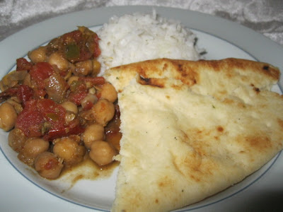 naan bread Indian Chana Masala