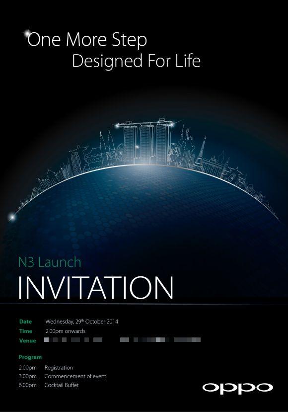 Oppo N3 press invite