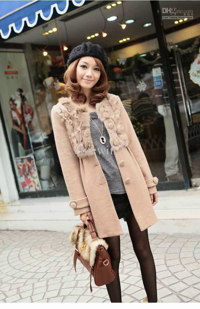 Hot Celebrity 2014 Beautiful Winter Coat Korean Fashion