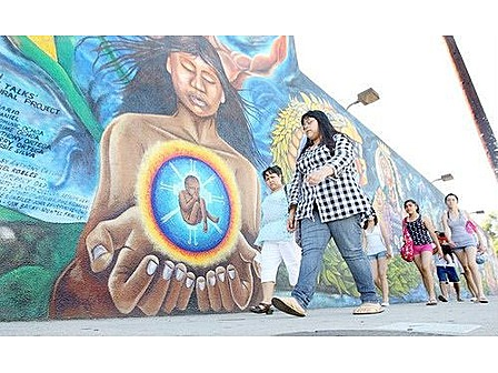 The chicano heritage mural for Mural chicano