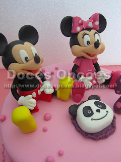 mickey e minnie moldados