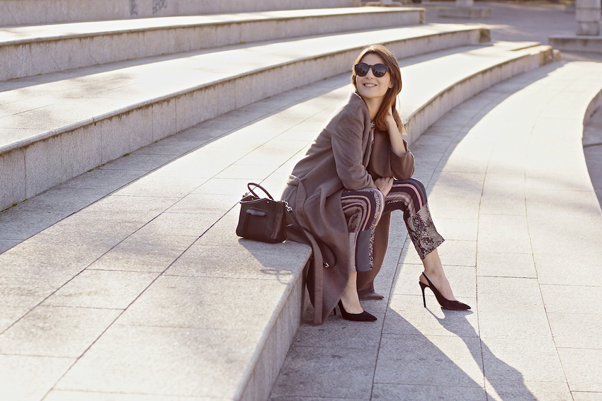 maxi belted coat until under the knee - irene buffa fashion blogger milano