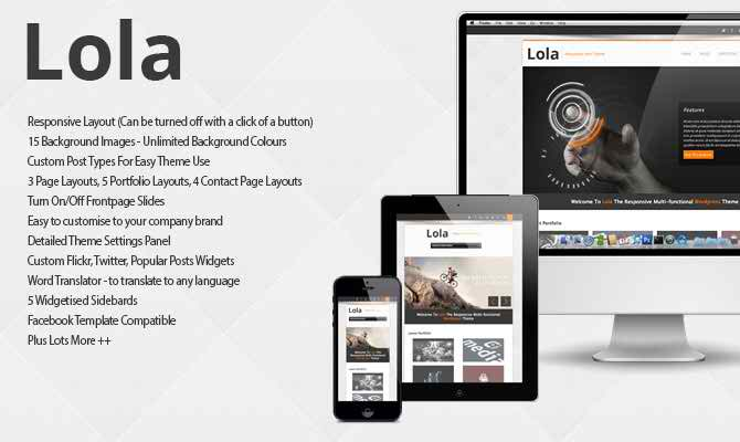 Lola - minimal and elegant WordPress blog theme