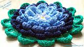 Flor em Azuis