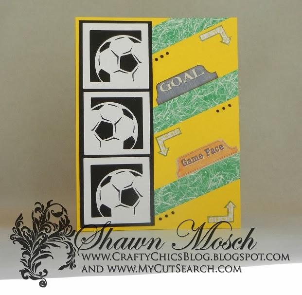 Crafty Chics Soccer Birthday Card