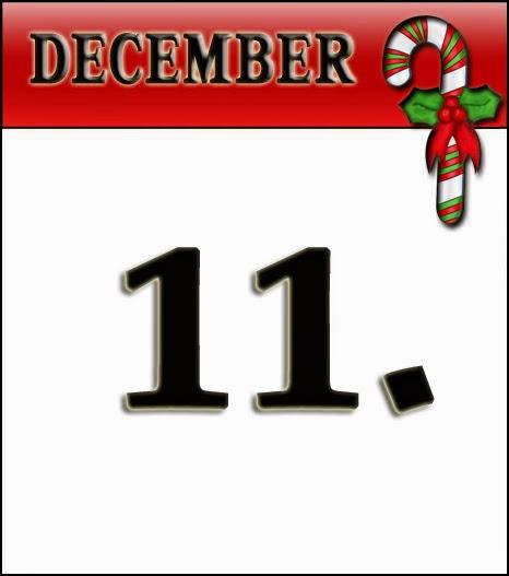 Adventný kalendár - 11. december - servítka v tvare stromčeka