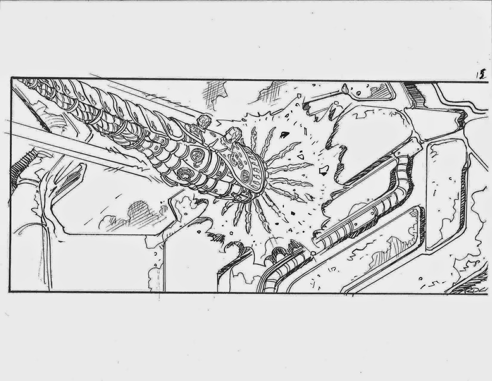 see sentinels attack in the matrix reloaded storyboards by ricardo delgado  u00ab film sketchr