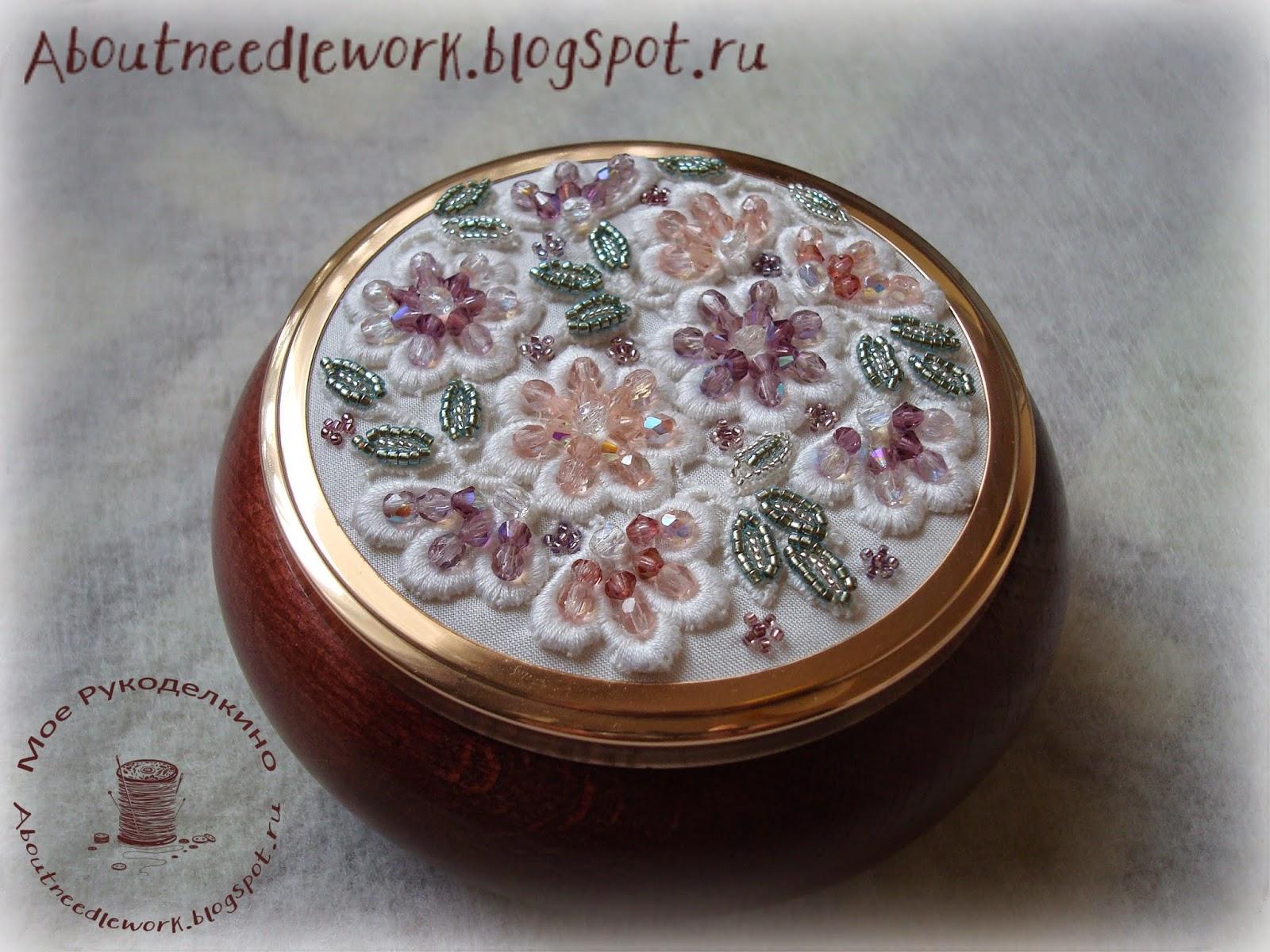 Шкатулка с вышивкой бисером