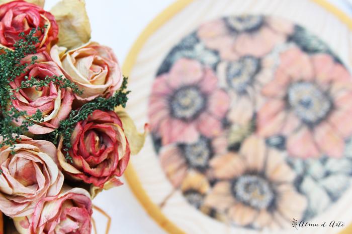 Cómo pintar flores con acuarela sobre madera