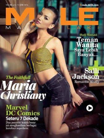 Majalah MALE Mata lelaki Edisi 84 Cover Model Maria Chrisliany | www.insight-zone.com