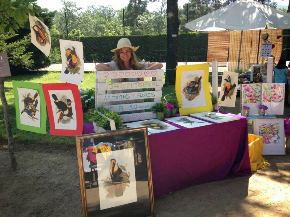El jardín tropical de Cristina Atienza en el Mercado de la Granja