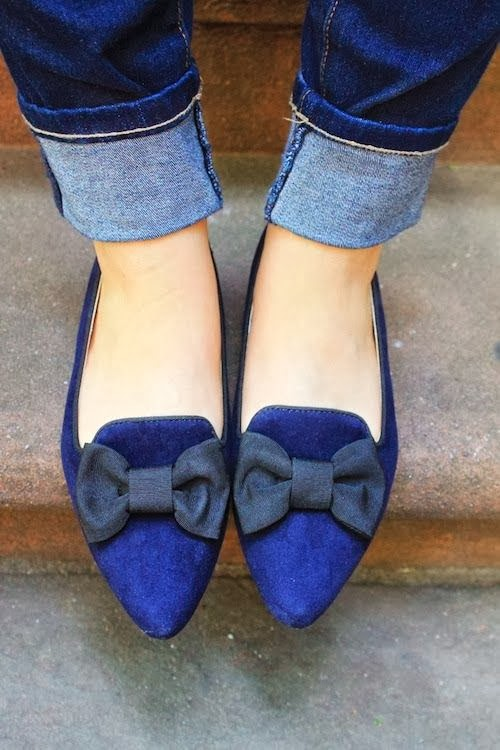 Navy Bow Shoe