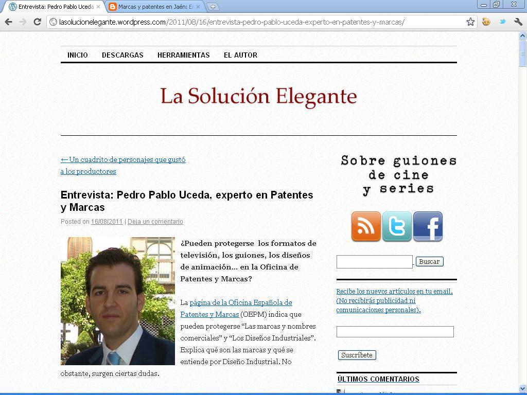 Entrevista en el blog de javier melendez sobre la for Oficina de patentes y marcas europea