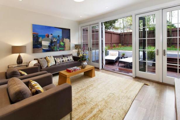 New Home Design: Elegant Living Room Interior Design For Small Space
