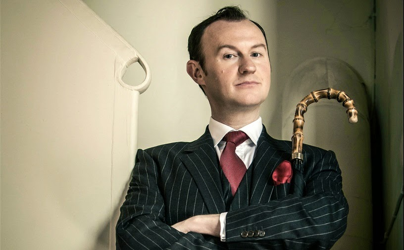 Mark Gatiss as Mycroft Holmes in BBC Sherlock Season 3 Episode 2 The Sign of Three