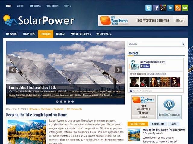 SolarPower - Free Wordpress Theme