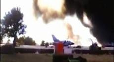 ESPAÑA: Diez muertos y trece heridos tras estrellarse un caza F-16 griego en Albacete.