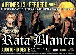 """RATA BLANCA EN EL """"AUDITORIO OESTE"""" (ARGENTINA) - 13/02/2015"""