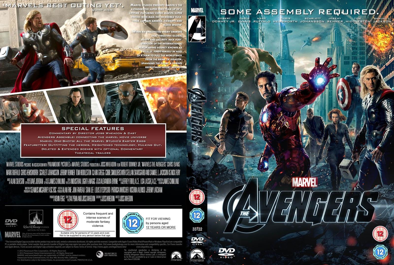 Capa DVD Avengers