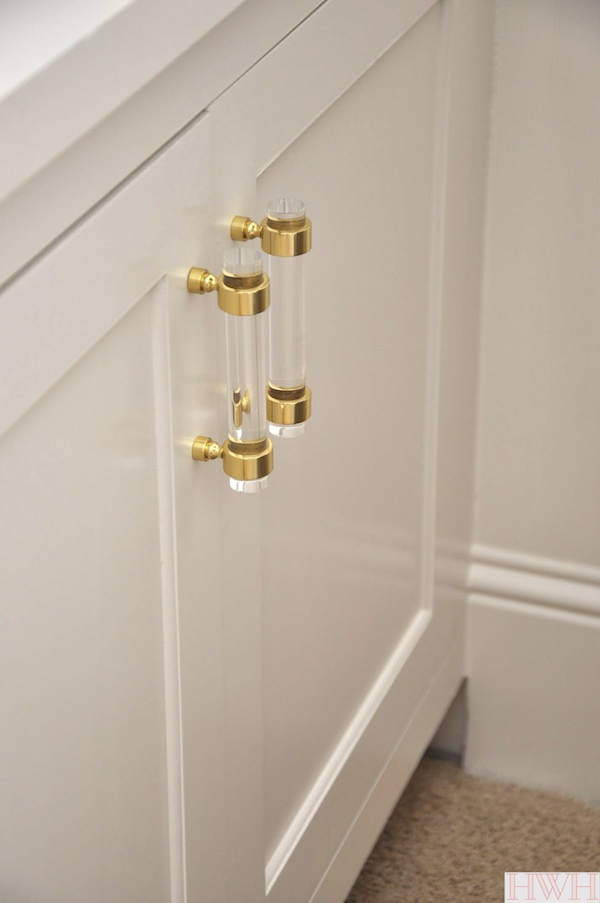Lucite & Gold Cabinet Hardware | Honey We\'re Home | Bloglovin\'