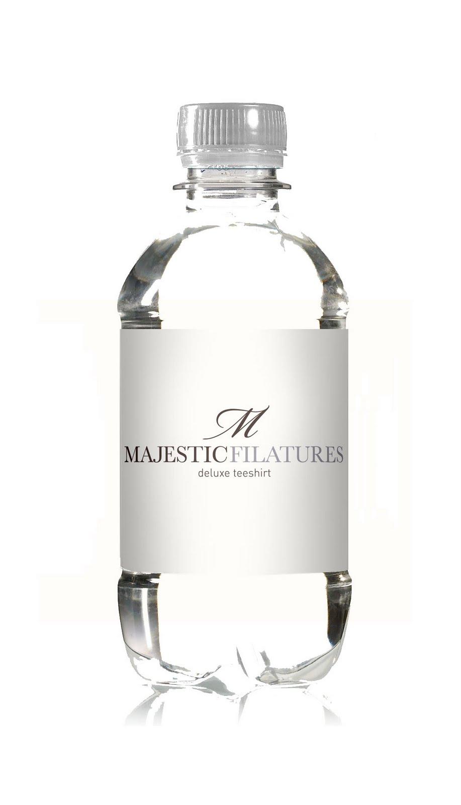 Drinkyz r alise les bouteilles majestic filatures - Bouteille eau de paris ...