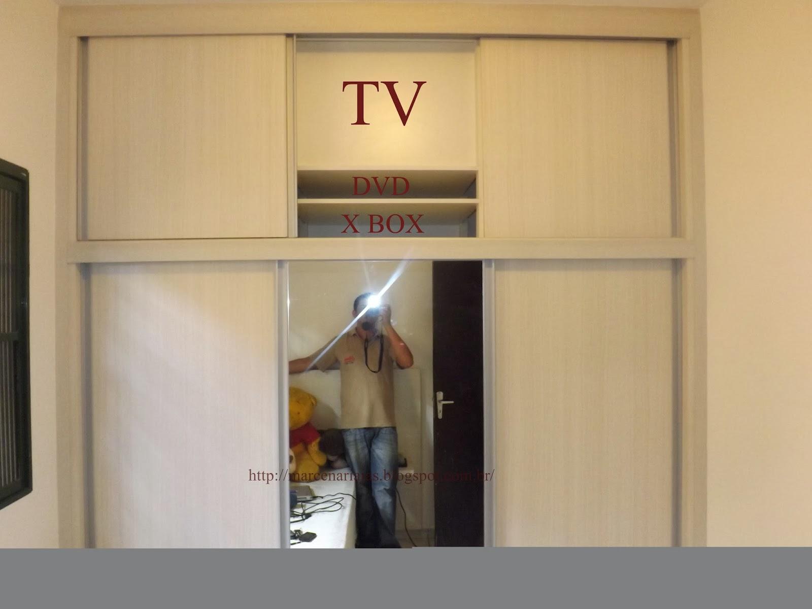 Marcenaria j a s armario 3 portas de correr com tv - Armario de la tv ...
