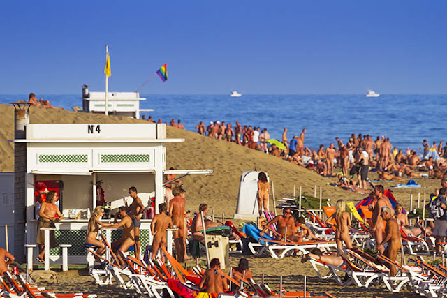 Maspalomas nudist beach is the busiest nude beach in Europe