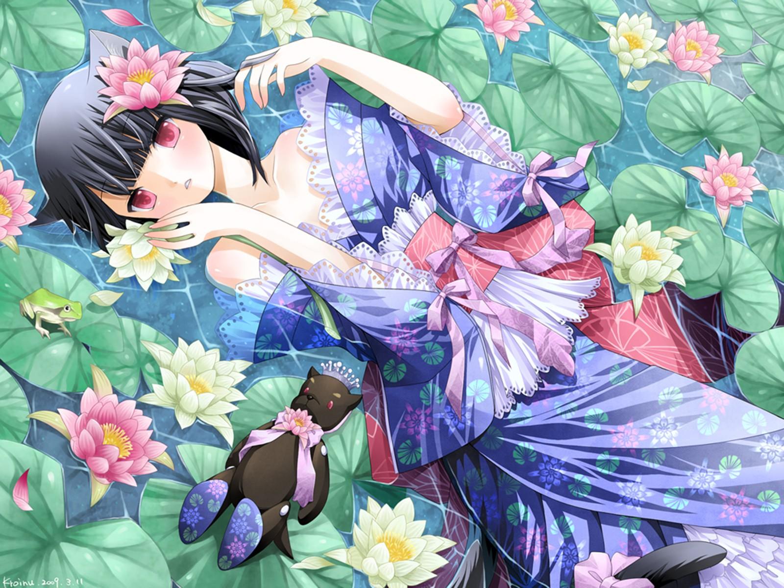 El Refugio de Rain: Imagenes estilo anime con flores 2