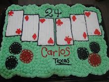 Pastel de cupcakes de naipes