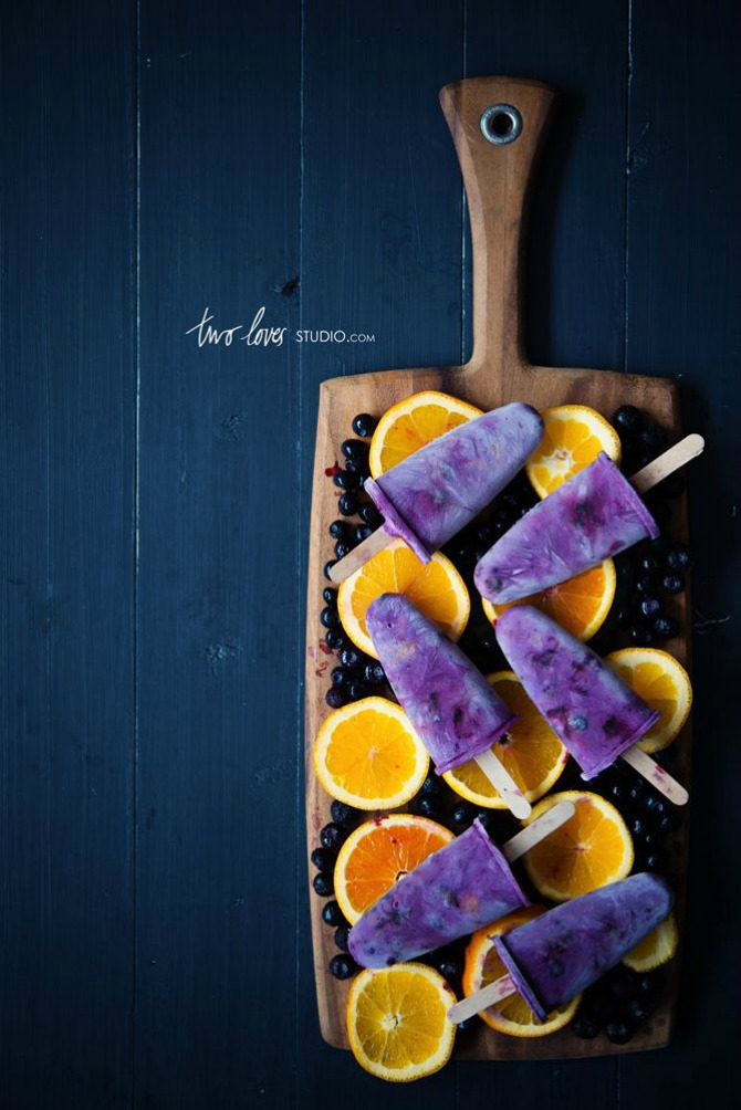 Orange and Blueberry Icy Pops