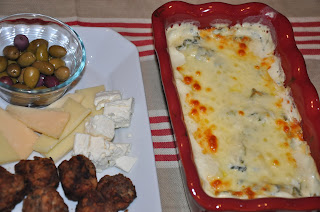 Spinach-Artichoke Dip with Keftedes