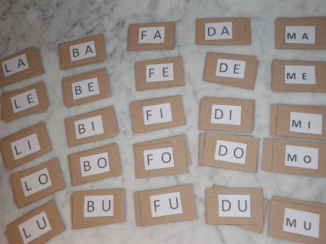 Unconventional mom memory delle sillabe for Memory da stampare